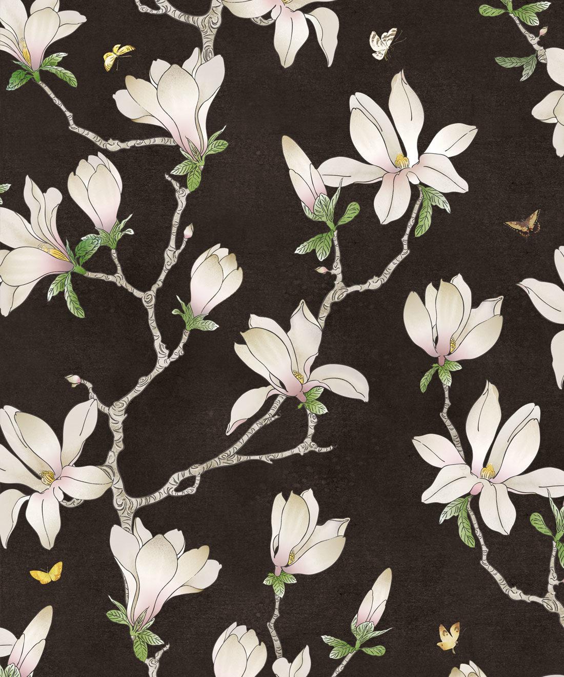 Floral Magnolia Wallpaper, Large Floral ...