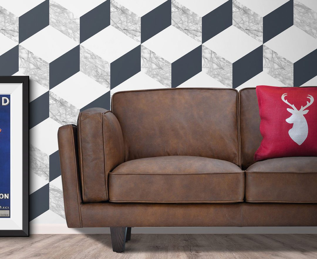 How To Style A Geometric Wallpaper