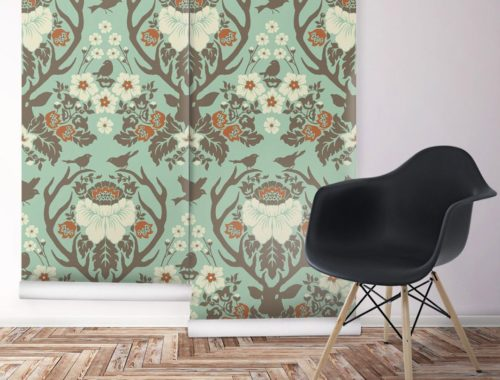 Antlers Damask from Wallpaper Republic