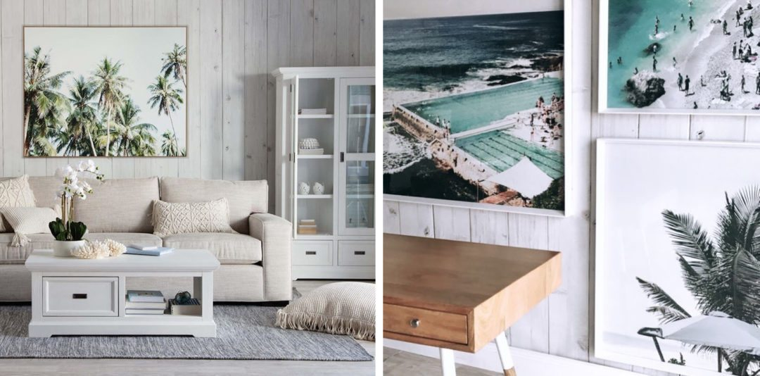 faux timber wallpaper called Whitewashed Timber by Milton & King perfect for a beach or coastal design