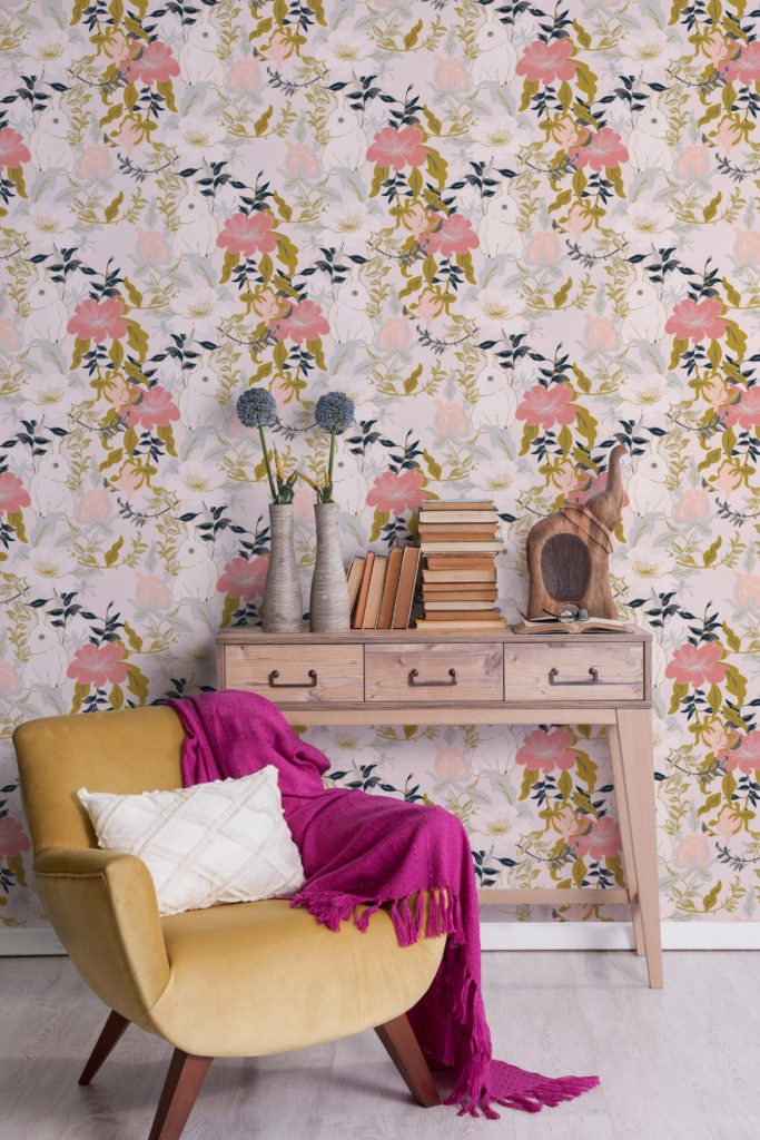 Garden Wallpaper designed by Teresa Chan for Milton & King
