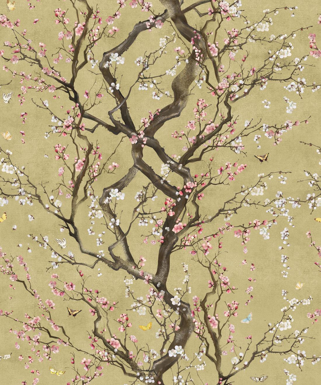 Plum Blossom Removable Wallpaper Japanese Florals Milton King Uk