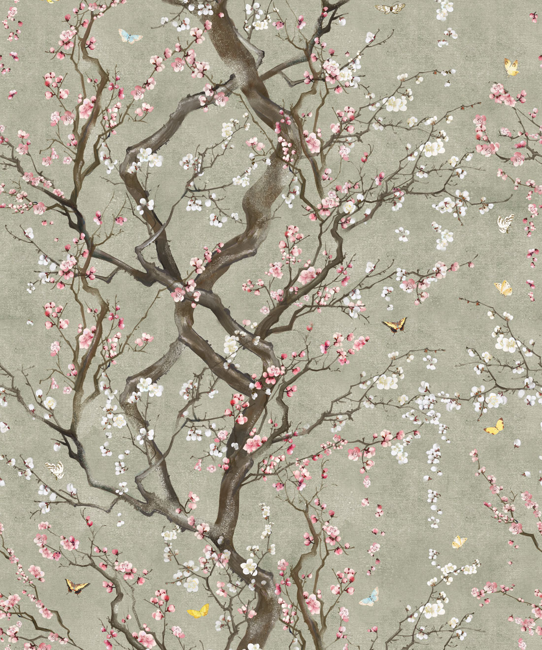Japanese Floral Wallpaper Plum Blossom Kingdom Home Milton King