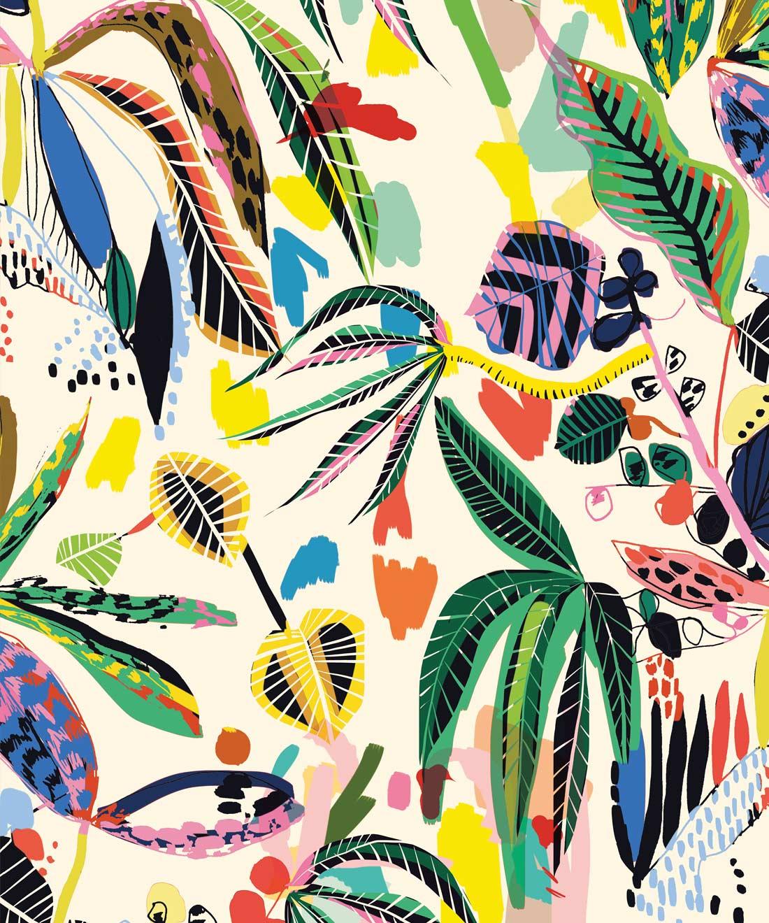 Wilderness Wallpaper Bright Bold Print Milton King Uk