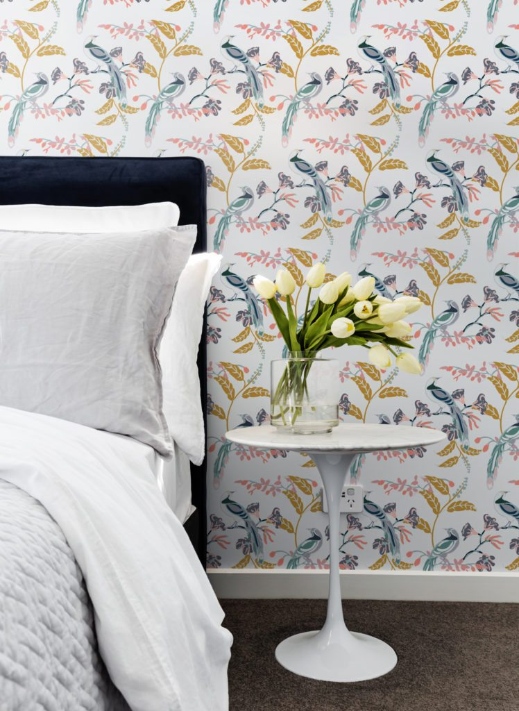 Birds of paradise Wallpaper designed by Teresa Chan from Milton & King
