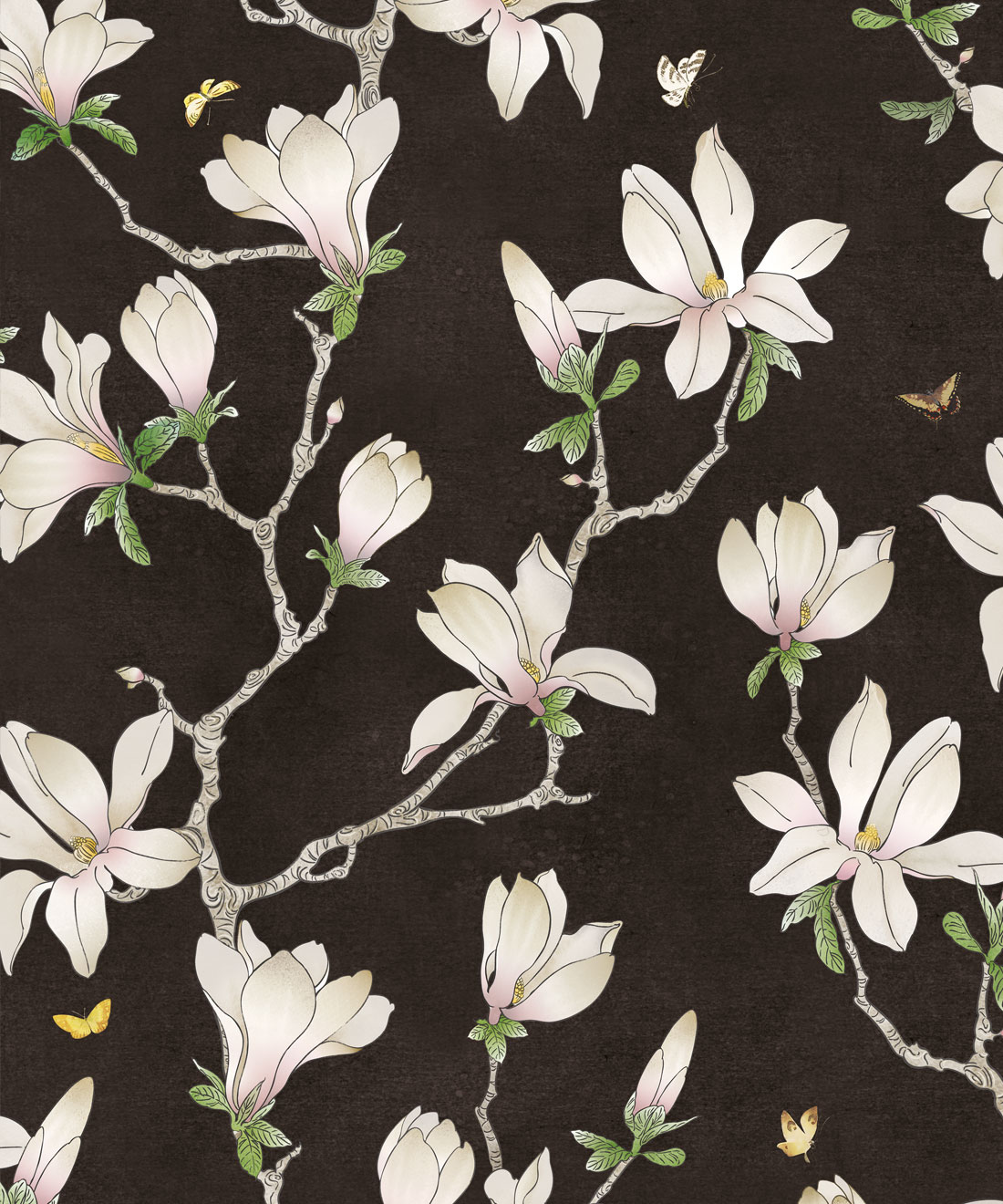 Floral Magnolia Wallpaper Large Floral Wallpaper Online Milton