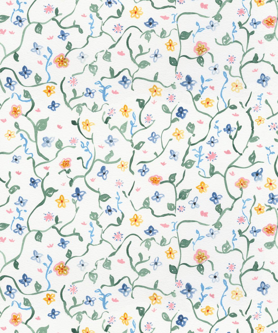 Wild Garden Wallpaper Abstract Floral Wallpaper Milton King